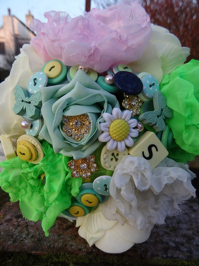 Spring has sprung….just in time for a button bouquet!